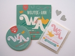 romantic mint custom wedding invitation