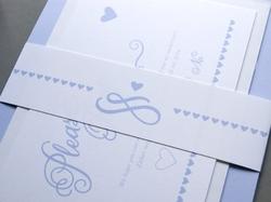 romantic script wedding invitation wrapper