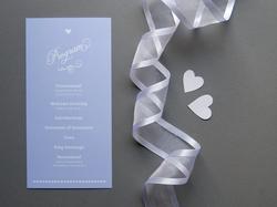 romantic script wedding program