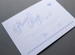 romantische bunte hochzeits-rsvp-karte