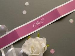 romantische hochzeits-papeterie-banderole