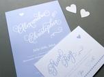 romantische kalligrafie hochzeits-rsvp-karte