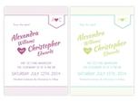 romantische stilvolle save-the-date-karte