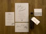 rustic mediterranean wedding paper goods