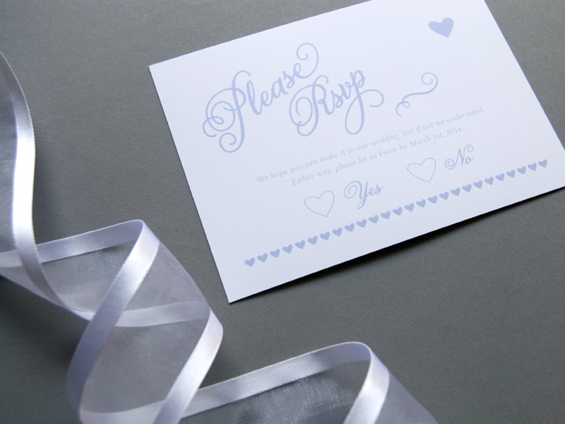 schöne kalligrafie hochzeits-rsvp-karte