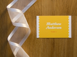 simple rustic wedding place card