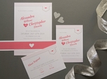 Simple sweet wedding invitation set