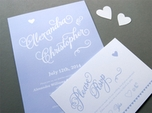 stunning chic wedding invitation
