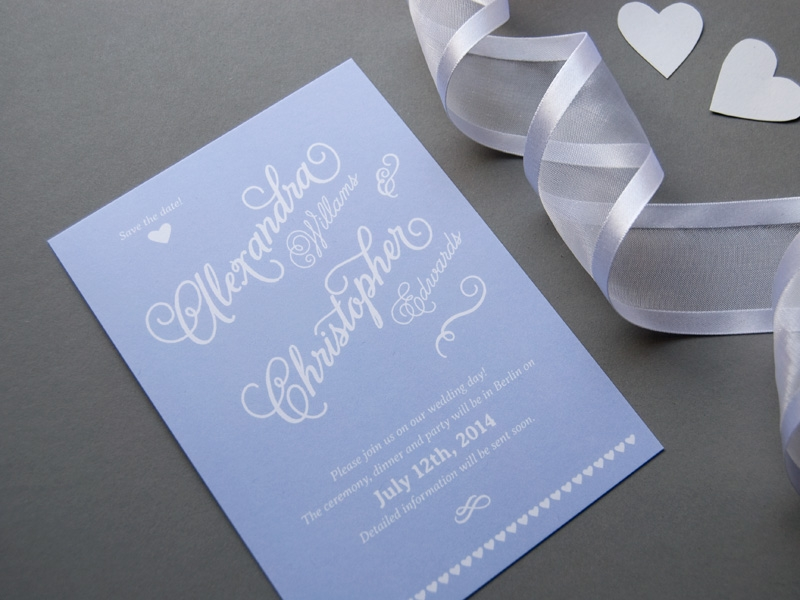 stunning chic wedding save the date