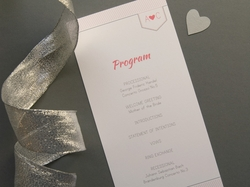 Sweet and lovely wedding ceremony program