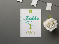 sweet retro wedding table number