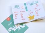 unique wedding information passport book