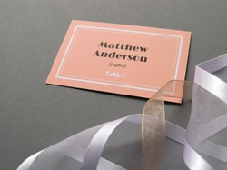 vintage jazz age wedding place card