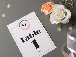 vintage jazz age wedding table number