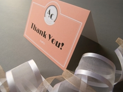 vintage jazz age wedding thank you card