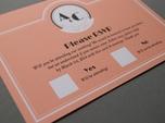 vintage monogram wedding rsvp card