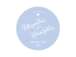 wedding save the date drink coaster