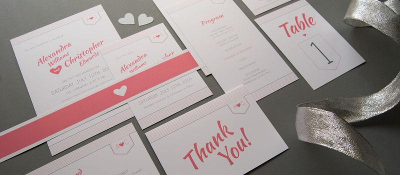 Charming wedding paper goods