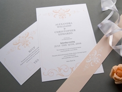 Classic vintage wedding invitation set