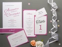Elegante ausgefallene Hochzeits-Einladungskarte
