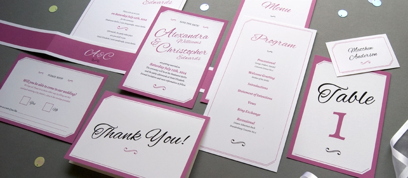 Elegant calligraphy wedding paper goods