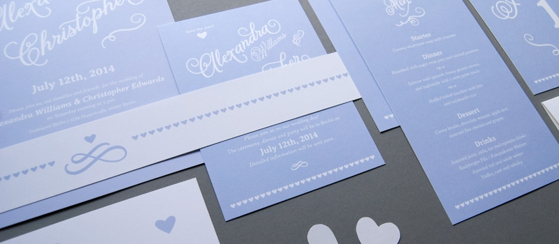 Enchanting classic wedding invitation set