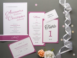 Elegant modern wedding invitation set