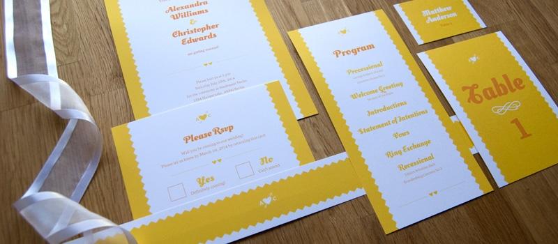 Lovely wedding paper goods set