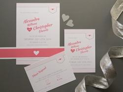 Minimalistische Hochzeits-Einladungs- und Rsvp-Karte