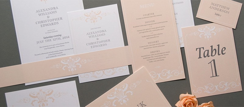 Ornamental elegant wedding invitation design