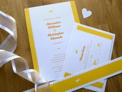 Romantic charming wedding invitation and rsvp