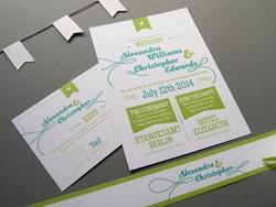 Schöne rustikale Hochzeitseinladungskarte