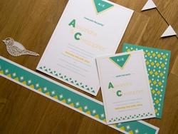 Stilvolle Hochzeits-Einladungskarte und Save-the-Date-Karte